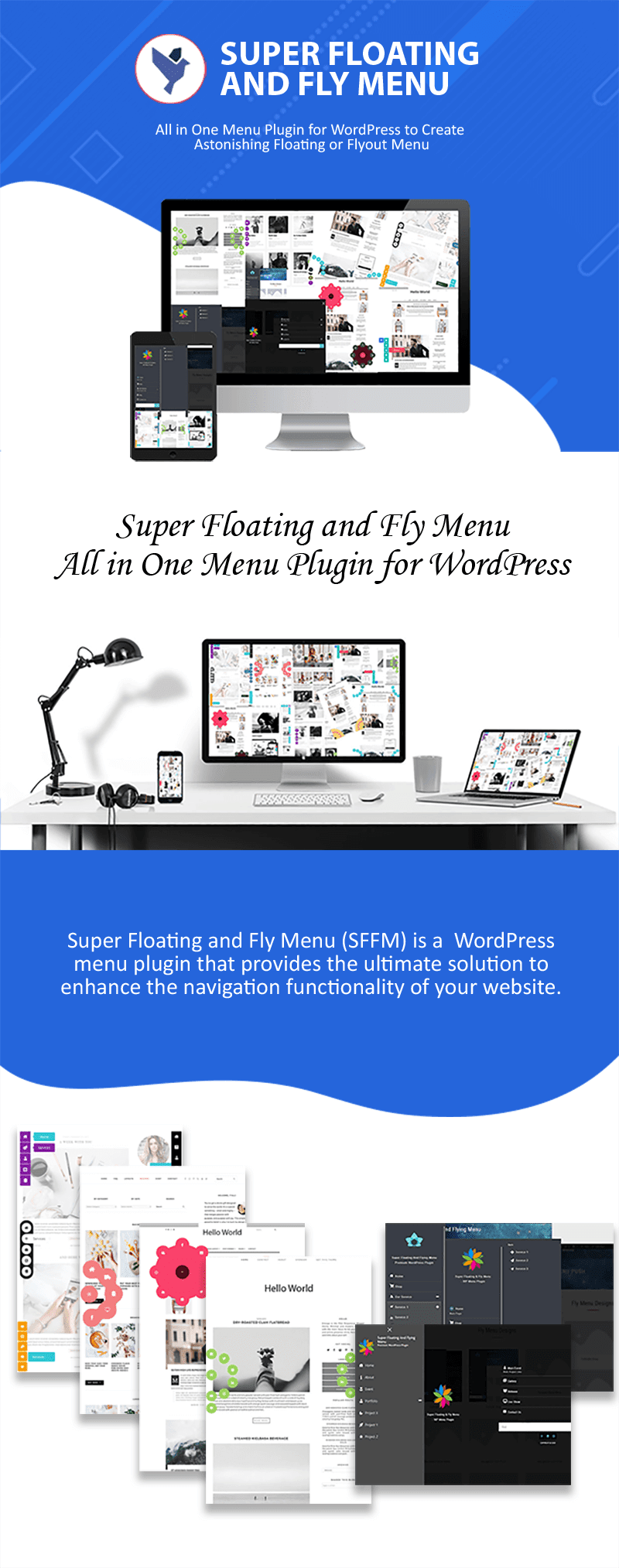 Super Floating and Fly Menu - Sticky, side, one page navigator, off-canvas menu plugin for WordPress - 1